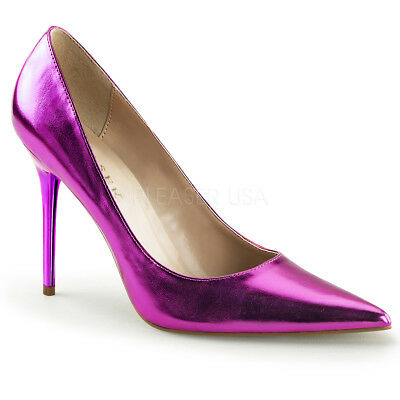 Purple Pink 80s Club Pumps Pointy Toe Mens Drag Queen Heels Shoes size 13 14 15