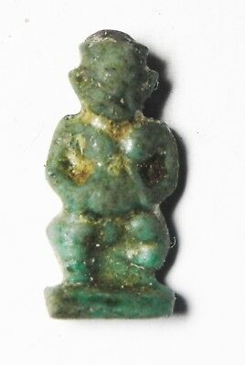Zurqieh -As4861-  Ancient Egypt, Faience Pataikos Amulet. 1075 - 600 B.c