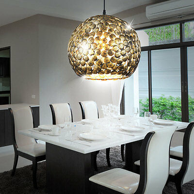 Hanging Lamp Dinner Room Kitchen Table Lighting Antique Style Brass Light Round