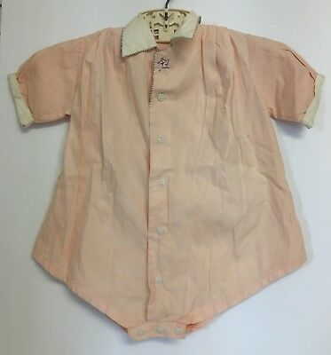 Vintage Toddler Childs Tagged Hand Embroidered Puerto Rico 1 Piece Romper Outfit