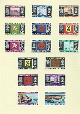 Great Britain Guernsey 1971 decimal currency definitive set mint