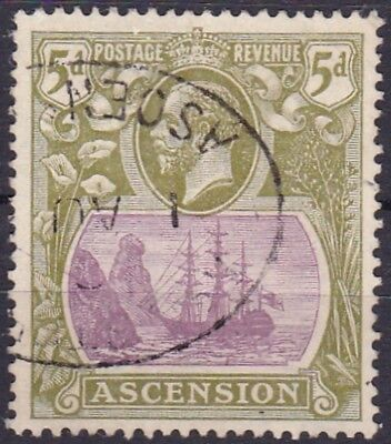 ASCENSION #16 USED 5p OLIVE & LIL SEAL OF COLONY