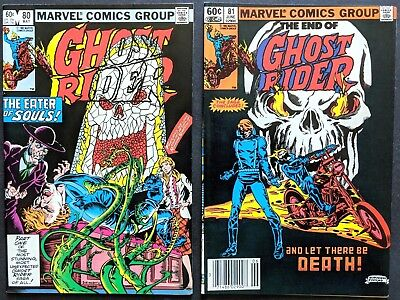 GHOST RIDER V.1..Nos.80 & 81...MARVEL...THE FINAL TWO ISSUES...1983...VFN/N-MINT