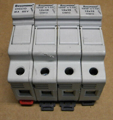 Bussmann CHM1D/CHCC1D Fuse Holder Lot with Fuses