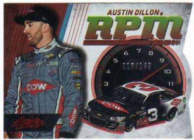 2017 Panini Absolute Racing RPM Spectrum Red /149 #15 Austin Dillon