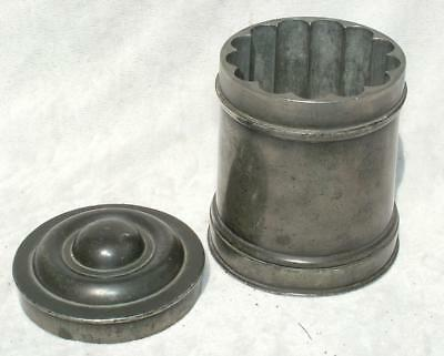 RARE ANTIQUE 19th CENTURY PEWTER 3 PART ICE CREAM MOULD - LOT 17