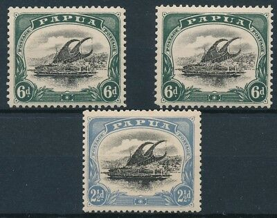[38401] Papua 1907/10 Boats Good lot Very Fine MH stamps