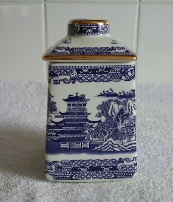 Ringtons Blue Willow Tea Caddy By Wade