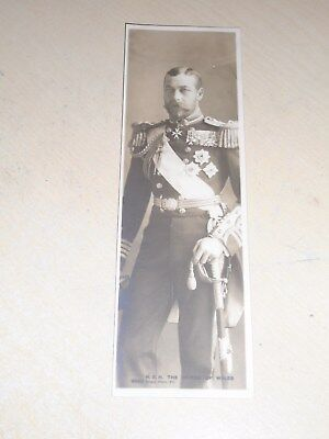 EARLY 1900s ROYALTY BOOKMARK POSTCARD - H. R. H. PRINCE OF WALES (GEORGE V)- VGC