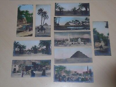 NICE COLLECTION OF 10 EARLY BOOKMARK SIZE PCs - VIEWS OF CAIRO, EGYPT - VGC