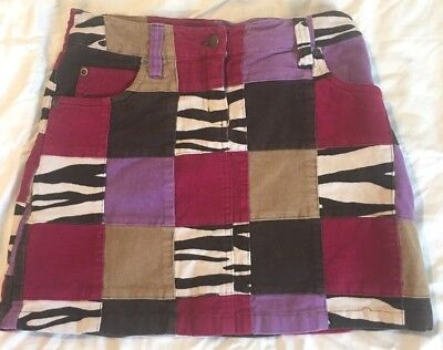 TALBOT'S KIDS Stretch patchwork corduroy skirt girls 10