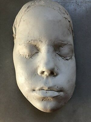 Victorian Plaster Death Mask, Life Mask, Medical Funeral Science Casting Mumps?