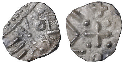 Early Anglo-Saxon England continental phase 695-740 AD. AR Sceat R2. XF #vk1