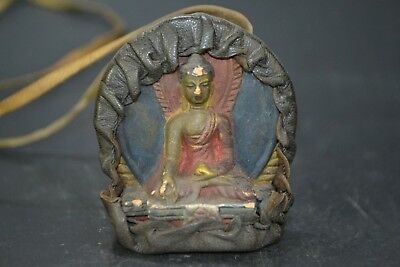 handwork Collectible Old incense incense ashes buddha Statue amulet Pendant