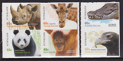 2012 Australian Zoo's - Set of 6 Booklet Stamps