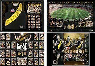 Richmond 2017 Premiership Team Signed Jumper Package With Bonus Prints