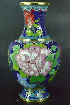 Vintage Handwork old handwork CHINESE Collectible cloisonne flower big Vase