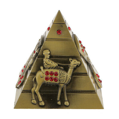 Egyptian Metal Pyramids Model Collectible Egypt Statue Decoration Bronze