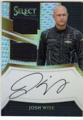 2017 Panini Select Racing Signature Swatches Dual Relic AUTO #18 Josh Wise