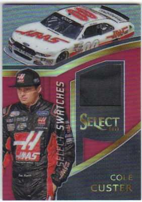 2017 Panini Select Swatches Red Prizm Firesuit Relic /99 #9 Cole Custer