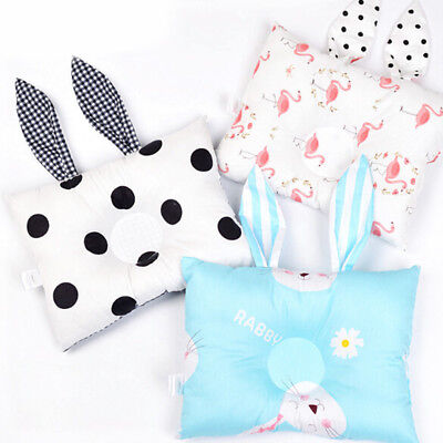 Baby Pillow Cartoon Rabbit Ear Prevent Flat Head Cushion Newborn Support Bedding