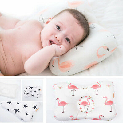 Support Prevent Anti Roll Baby Pillow Flat Head Neck Newborn Memory Foam Cushion