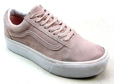 2c12d30ab47 Unisex Vans Old Skool Platform Pink Suede Retro Skate Pumps Trainers Uk  Size 5.5