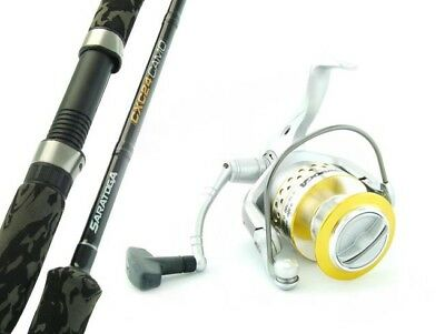 SARATOGA CXC24 Camo 7'0 10kg Snapper Fishing Spinning Rod and Reel Combo Boat