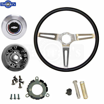 69 Camaro Comfort Grip 3 Spoke Steering Wheel - Hub - Contact & Horn Cap - KIT