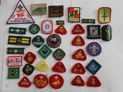 lot of 36  different   boy scouts  cloth patches