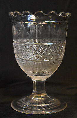 EAPG Hamilton Footed Spooner Scalloped Rim Cape Cod Glass Co Antique
