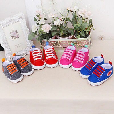 New Newborn Infant Baby Cartoon Girl Boy Solid Soft Prewalker Casual Flats Shoes