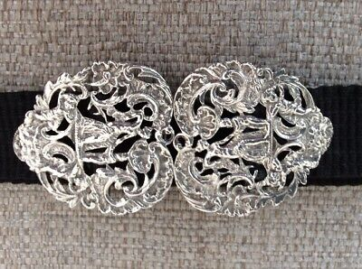 Victorian Heart Shaped Silver Nurses Buckle Mother and Child William Comyns