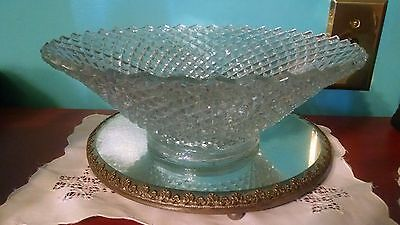 Westmoreland Clear Glass Crystal Round Bowl English Hobnail VTG Miss America
