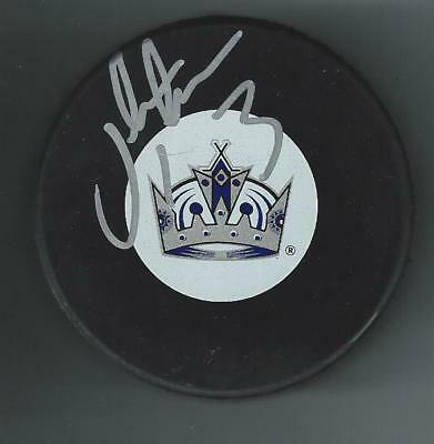 Jack Johnson Signed Los Angeles Kings Puck Pittsburgh Penguins