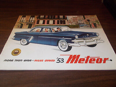 1953 Meteor Canadian Deluxe 20-page Sales Catalog  / Scarce !!