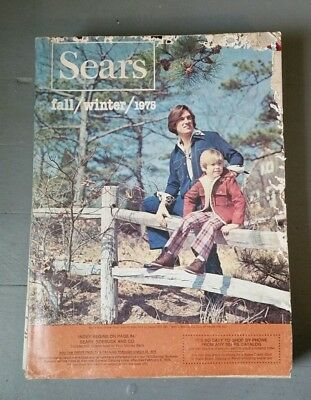 SEARS 1975 Fall and Winter Original Vintage Catalog Fashion Housewares