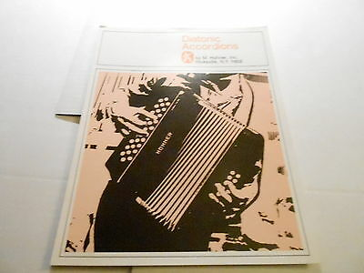 VINTAGE MUSICAL INSTRUMENT CATALOG #10229 - 1960s DIATONIC ACCORDIONS by HOHNER