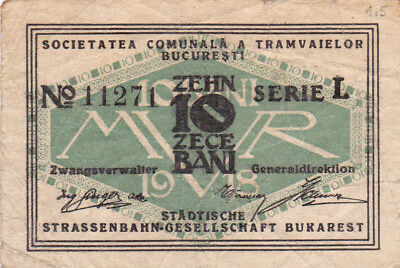 10 Bani Fine Emergency Note From German Occupied Romania 1916 !pick-Nl!rare