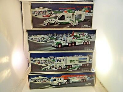 Lot Of 4 Hess Vehicles 2000, 2001, 2002 & 2003 New In Box