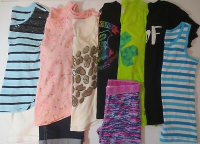 LOT Girl's Size 14 13/14 14/16 Spring Summer Clothes Shorts Shirts Mix