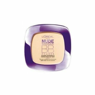 Loreal Nude Magique BB Powder Universal Skin 5 in 1 Medium Skin French Text
