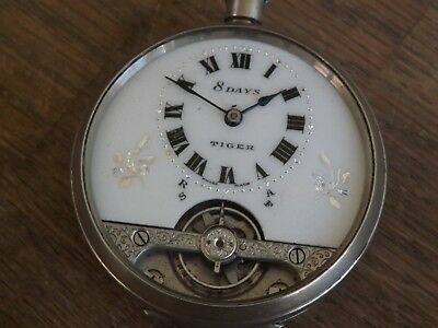 Antique Gents Hebdomas Style 8 Day Patent Pocket Watch
