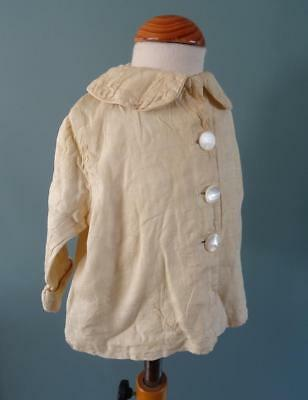 Vintage 1920's Cream Baby's Baby Jacket with MOP Mother of Pearl Buttons