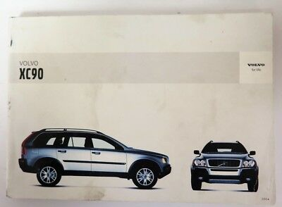 2004 volvo xc90 owners manual guide book 16 02 picclick rh picclick com 2014 Volvo XC90 2012 volvo xc90 owners manual