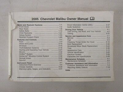 2015 chevy chevrolet malibu owners manual guide book 11 96 picclick rh picclick com 2005 chevrolet malibu service manual pdf 2005 chevy malibu owners manual