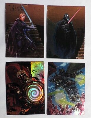 ESZ4423. Lot of 4: STAR WARS FINEST CARDS Matrix 4 SWF 1 F1 & F2 Darth Vader >