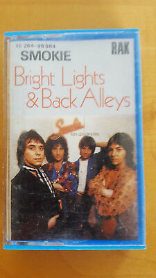 Musikkassette Smokie   Bright Lights &Back Alleys