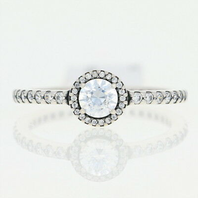 c7167fc4e ... hinged box 9d941 denmark new authentic pandora classic elegance ring  sterling halo 190946cz 54 size 7 d58a9 02eb4 ...