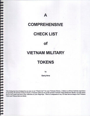 Vietnam Nam Military Trade Token Check List Spiral Book Listing Over 1800 Tokens